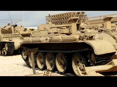 Track width mine plow (plough) for tanks, made in Israel also used by the US Army