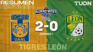 Resumen y goles | Tigres 2-0 León | Torneo Guard1anes 2021 BBVA MX - J1 | TUDN