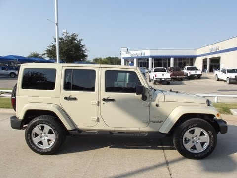 For Sale $29,988 each Two 2011 Jeep Wrangler Unlimited Sahara SUV Hardtop one Tan or Silver