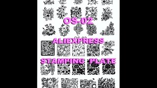 OS-02 Stamping Plate from AliExpress - OS Series XL - Swatches And Review
