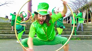 a hula hoopy saint patricks day hula hoop dance featuring seattle hoopers