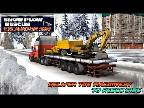 Winter Snow Rescue Excavator - Android Gameplay