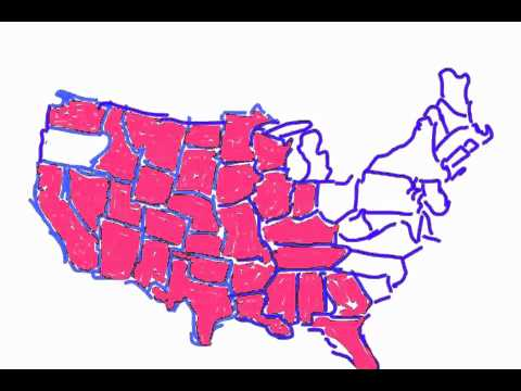 Drawing USA Map Slow YouTube - Drawing of usa map