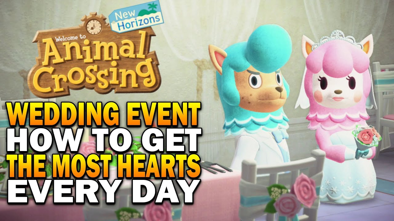 Acnh Wedding Event How To Maximize Hearts Get All Items Animal Crossing New Horizons Update Youtube