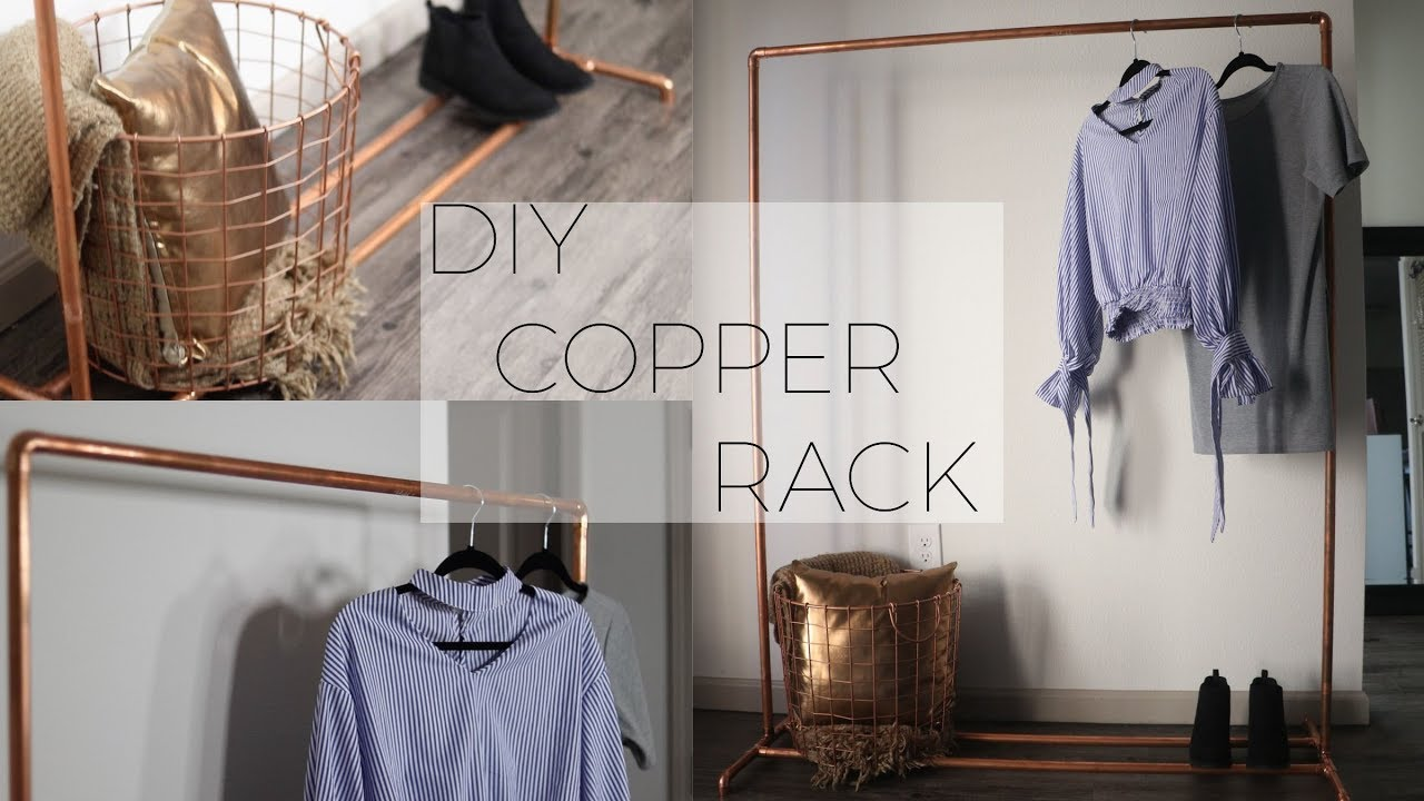diy copper pipe clothing rack theadetomi
