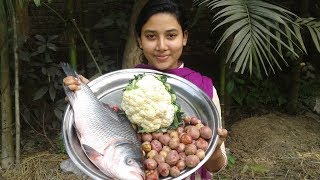 Fish Cauliflower Potato Curry Recipe | Healthy & Tasty Cooking | Prepared By Street Village Food