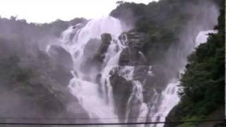 Dudhsagar Waterfalls from train
