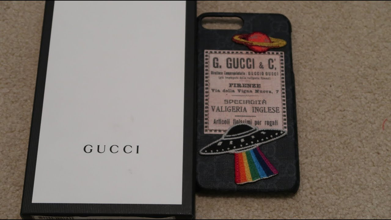 outlet store 07b6f d3ffb GUCCI Night Courrier Iphone 7 Plus Case Pickup/Unboxing
