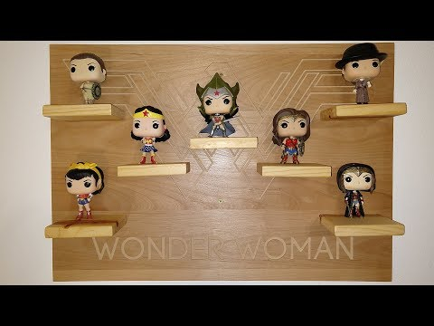 Funko Pop Wonder Woman Display Shelf #funkopop #wonderwoman