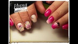 🌸 ВЕСЕННИЙ дизайн ногтей 🌸 FIORE 🌸 ОРХИДЕЯ на ногтях 🌸 ЦВЕТЫ на ногтях 🌸 Дизайн ногтей гель лаком 🌸