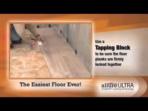 How To Install Allure Ultra SimpleFit Flooring   Official   YouTube