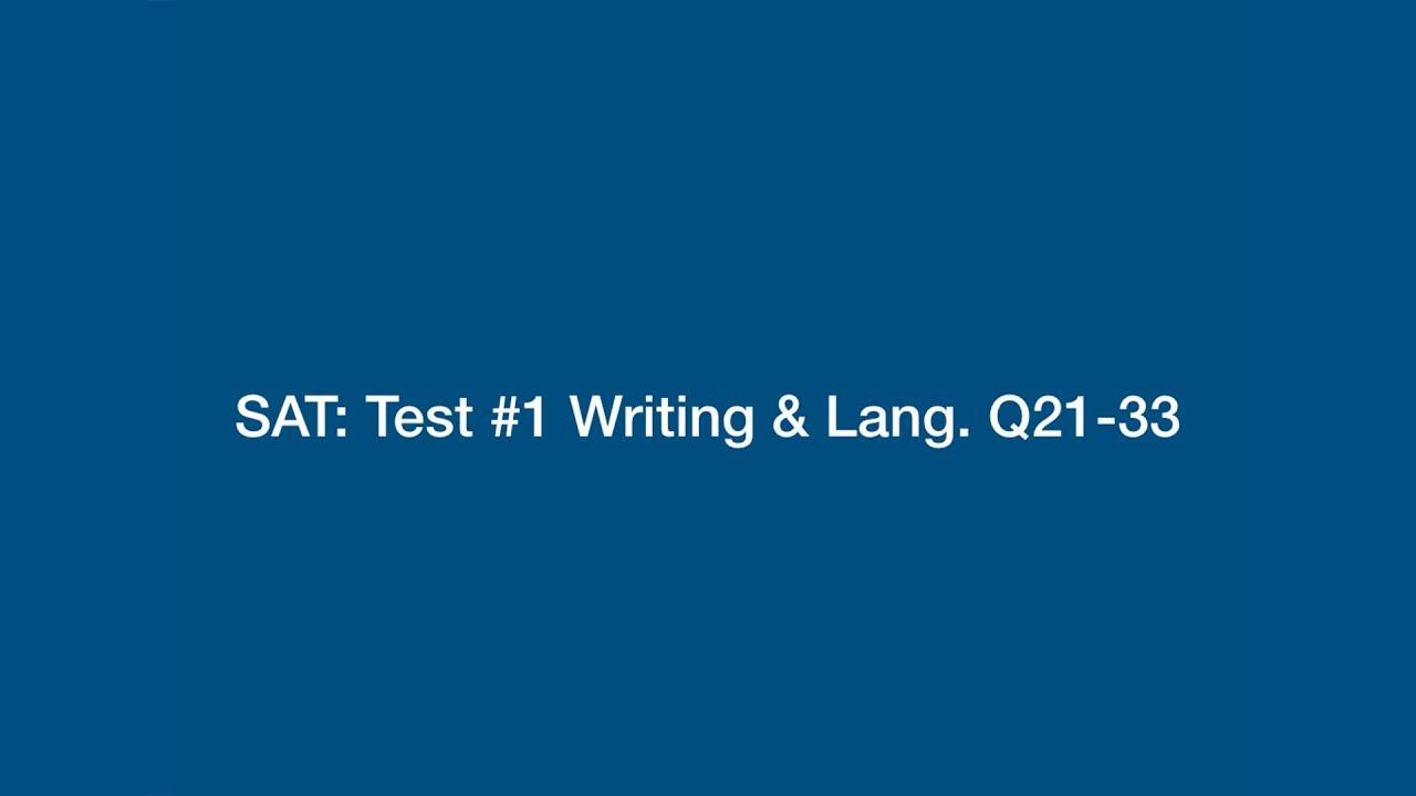 sat writing test