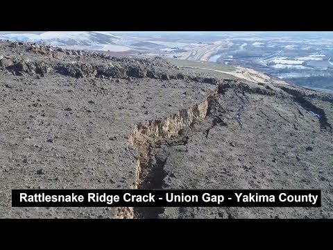 Rattlesnake Ridge Crack Drone Footage Update & Analysis - Union Gap - Yakima River Valley  1/14/2018