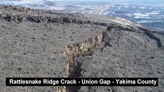 Rattlesnake Ridge Crack Drone Footage Update & Analysis - Union Gap - Yakima River Valley  1/14/2018