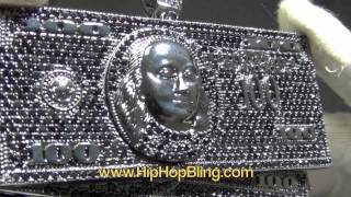It's All About the Benjamins $100 Bill Stacks Hip Hop Pendant