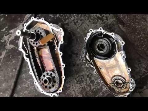 Замена цепи в раздатке Mercedes GL W164, как определить растянутость цепи раздатки