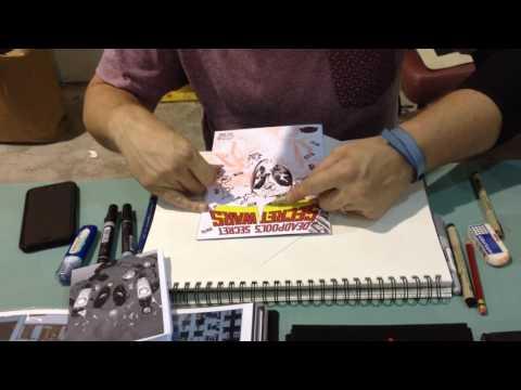 Tomm Coker draws DEADPOOL at SAC CON '15 (Pt. 2)