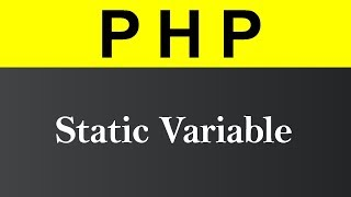 Static Variable in PHP (Hindi)