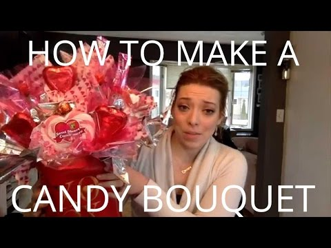 How To Make a Candy Bouquet Arrangement - EASY DIY GIFT IDEAS