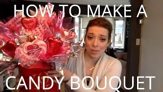 How To Make A Candy Bouquet Arrangement