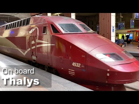 On board a Thalys high-speed train