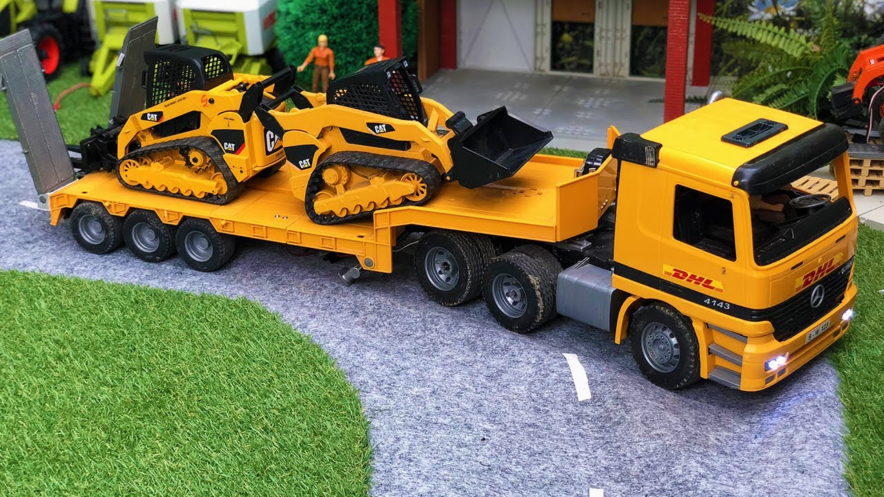 RC Truck Bruder | Construction Site Vehicles for Kids Pool Action!