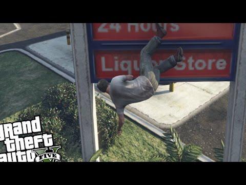 GTA 5 PC MOD - Free Running MOD (Failed Parkour Attempts) Grand Theft Auto 5 PC Parkour MOD