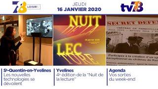7/8 Loisirs. Edition du jeudi 16 janvier 2020