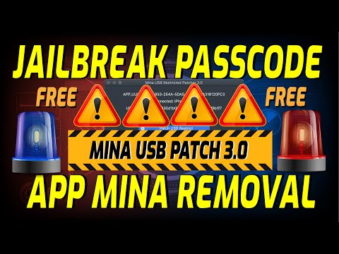 Jailbreak Passcode con Mina USB V3.0 iOS 14.X - 14.3 - 14.4 + App MinaRemoval 3.0 FMI OFF