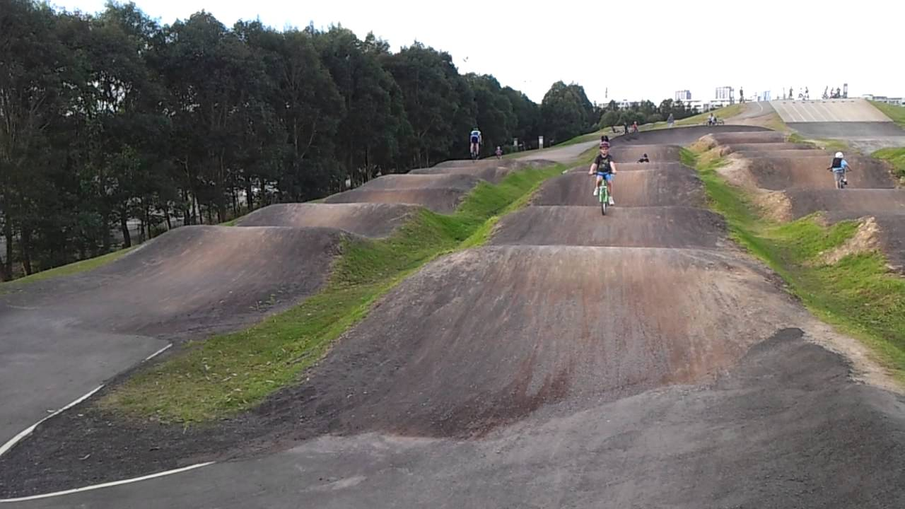 A Recalcitrant Cyclist Having Fun Sydney Olympic Park BMX Track