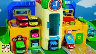 Cars toy video for Children|Tayo The Little Bus school play set |Tayo Bus in Real Life | Borami Toys