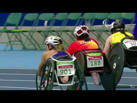Jessica Lewis In Paralympics 100m Heats, September 8 2016
