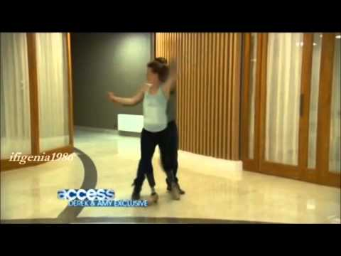 Amy Purdy & Derek Hough - First meeting, rehearsals and interviews of Week 1 (Cha cha)