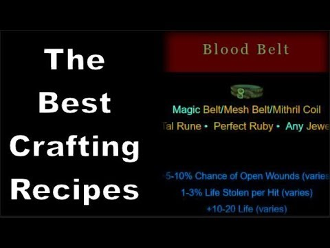 Diablo 2: The Best Crafting Recipes You Should Know