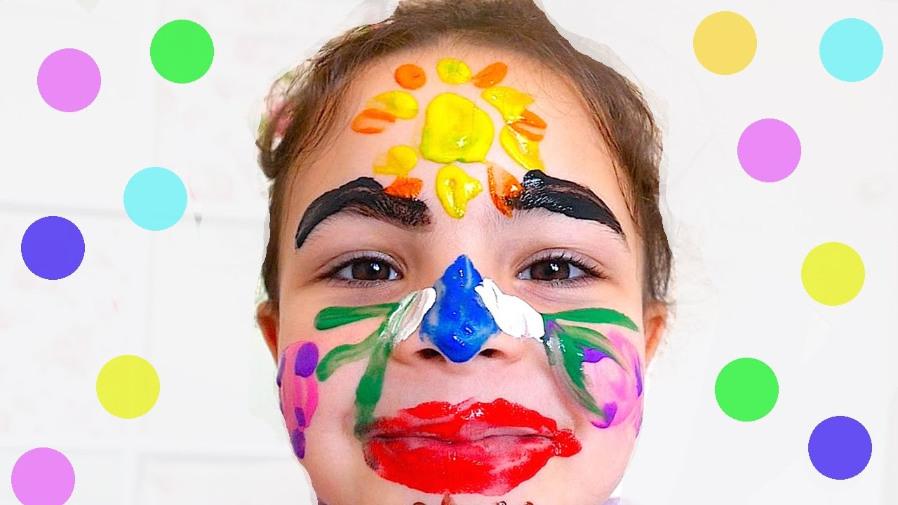 learn colors for kids body paint children toddlers finger family nursery rhymes color colour