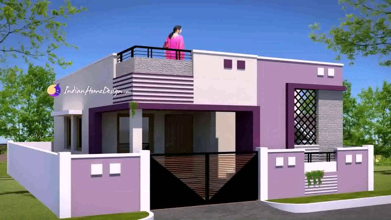 Normal House Front Design Indian Style Youtube