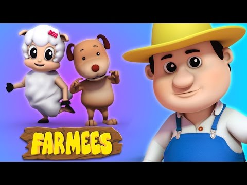 Head Shoulders Knees And Toes | Nursery Rhymes | 3d Rhymes By Farmees