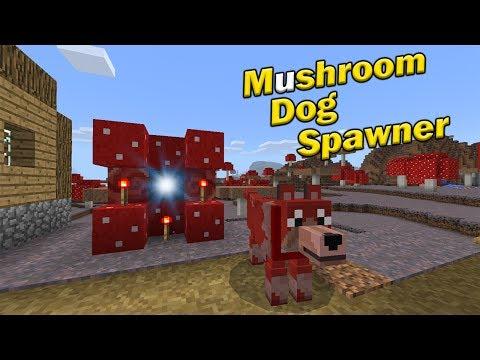 MUSHROOM DOG SPAWNER TUTORIAL   Minecraft PE