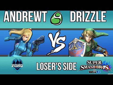 Arcadian Fury Top 32: AndrewT (Zero Suit) vs Drizzle (Link)