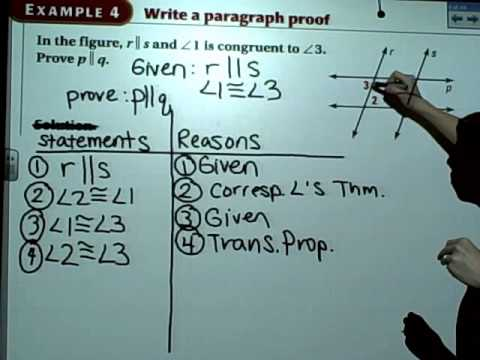 writing a paragraph proof