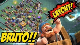 LAYOUT BRUTO !! - BASE DO CONSTRUTOR 8 ( CC8 / BH8 ) - CLASH OF CLANS - LAYOUT TH8