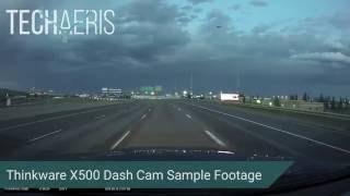 thinkware X500 Dash Cam Sample Footage