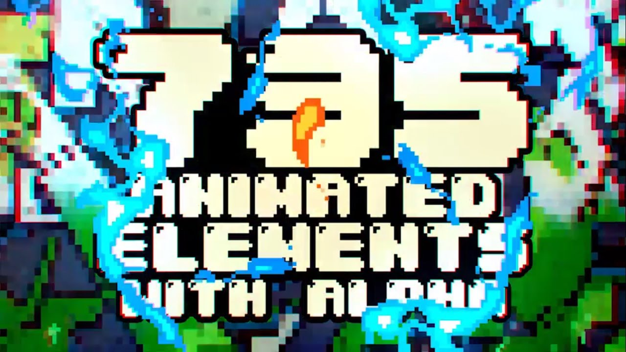 8 bit animation elements after effects template youtube