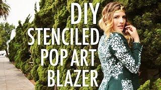 DIY Stenciled Pop Art Blazer
