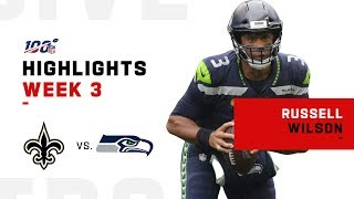 Russell Wilson Flies w/ 406 Yds, 2 Rushing TDs & 2 Passing TDs | NFL 2019 Highlights