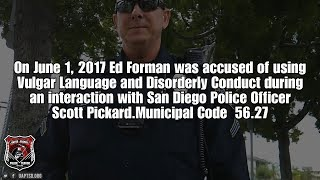 Verdict In for Copwatcher Vs. San Diego Police Tyrant | 1st Amendment Case