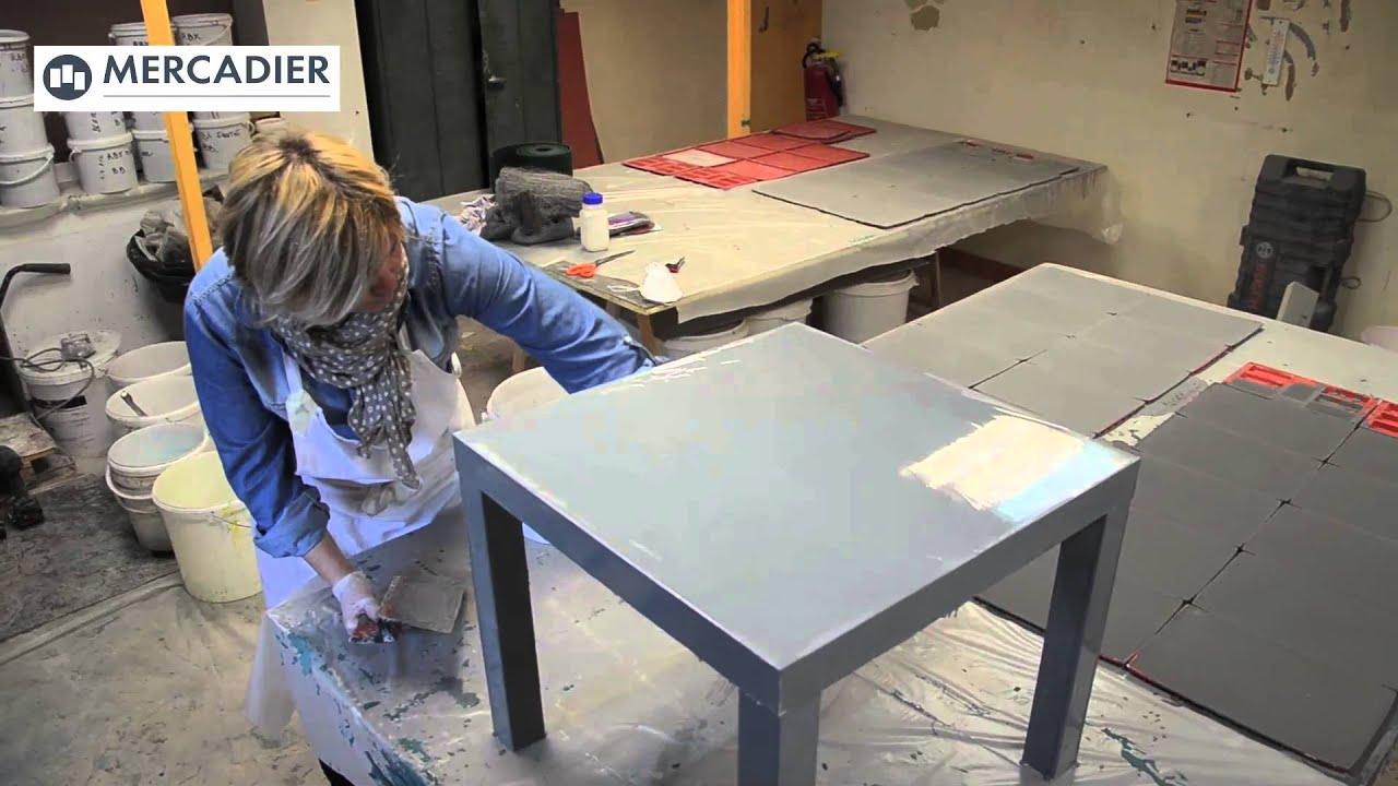 Latest table en pure mtal mercadier procd de froid youtube for Recouvrir une table de zinc