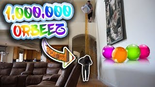 DUMPING 1,000,000 ORBEEZ ON MY WIFE!!