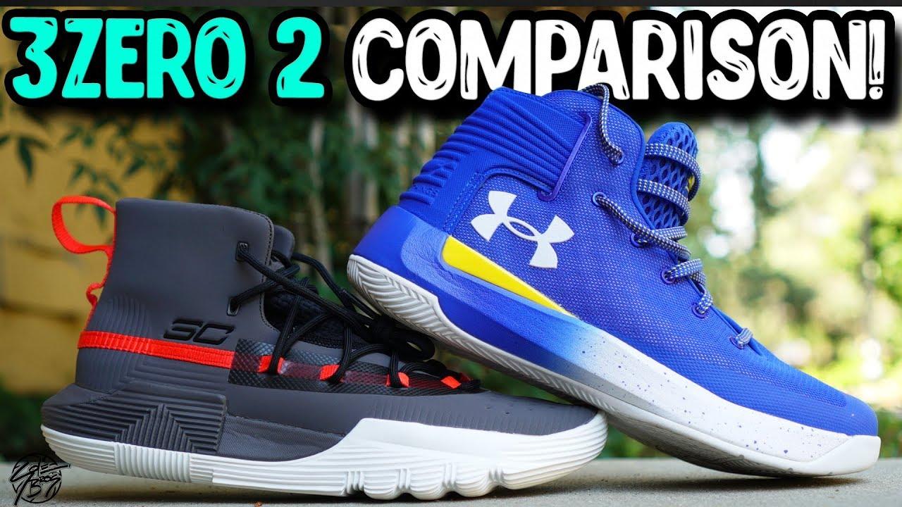 innovative design a5517 17f6a Under Armour Curry 3Zero 2 & Curry 3 Zero Comparison!