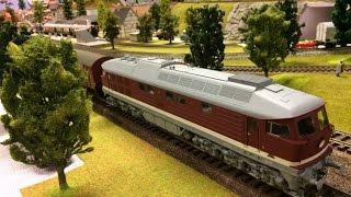 Modelleisenbahn Spur 0/0e große Anlage schöner Zugverkehr mit Sound - Model trains scale 0/0e